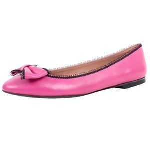 RED VALENTINO Pink Leather Flats Shoes 7 US 37 EU